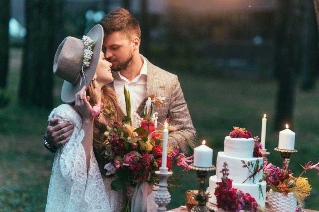 Boho Style Hochzeitspaar