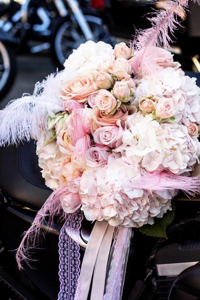 Ein Vintage Brautstrauß