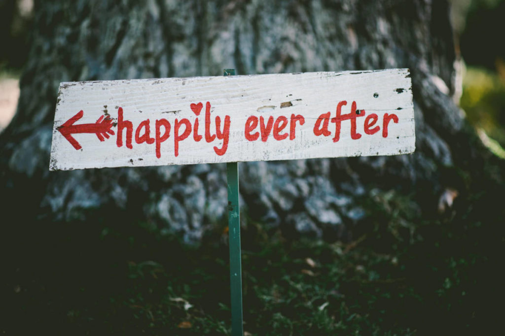 Hochzeit Schild Happy Ever After
