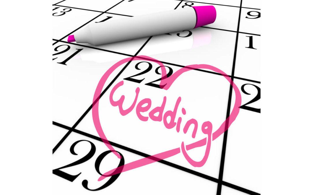 Hochzeitsdaten 2022 – Die beliebtesten Termine