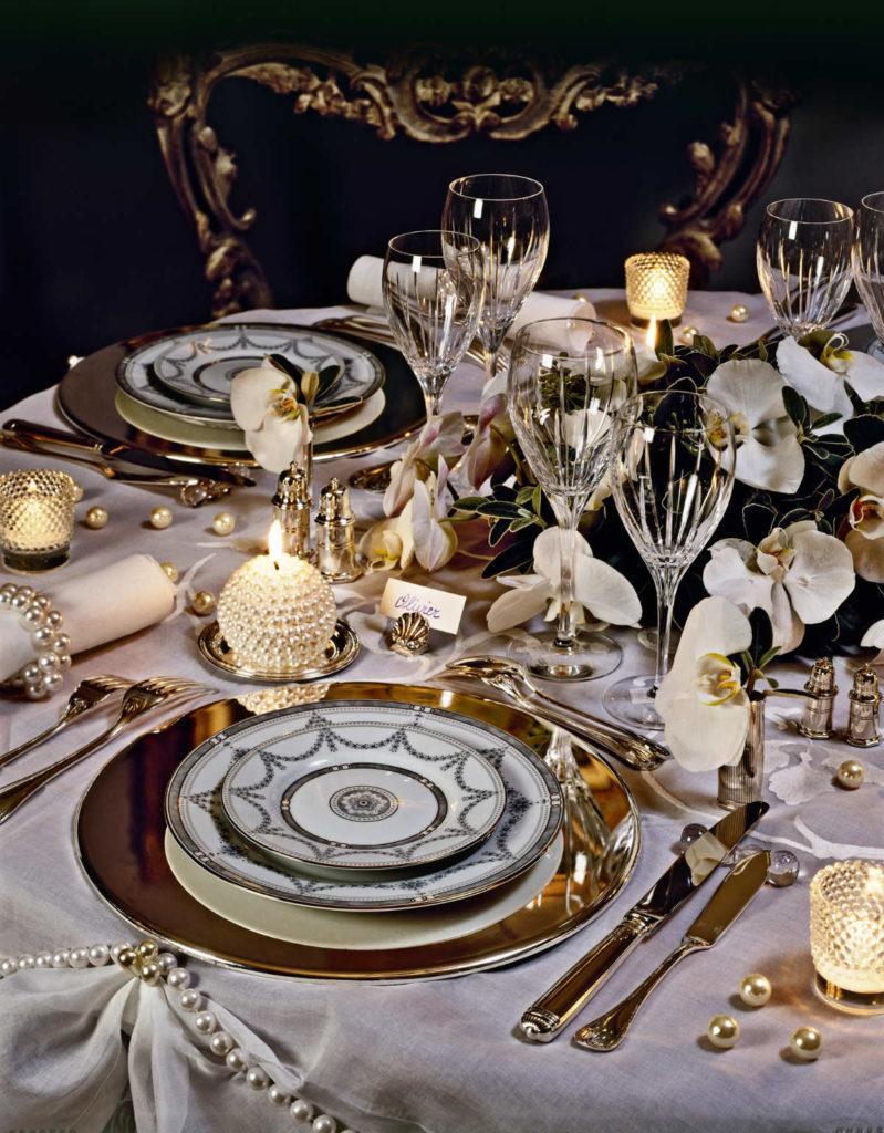 Hochzeitsdeko passend zum Empire Stil. Luxuriös und edel