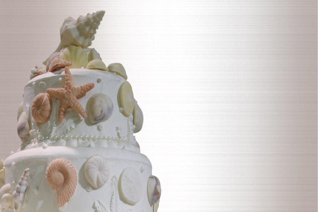 Hochzeitstorte in maritimen Demo Stil